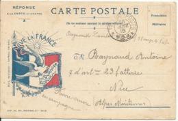 CORRESPONDANCE MILITAIRE....VIVE LA FRANCE...écrite En 1915 - Militaria