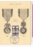 Carte Maximum 1952 Médaille Militaire - 1950-59