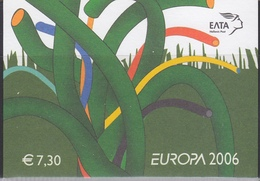 Europa Cept 2006 Greece Booklet ** Mnh (41393) @ Face Value - Europa-CEPT
