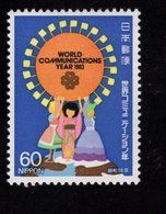 675494620 JAPAN 1983 POSTFRIS MINT NEVER HINGED POSTFRISCH EINWANDFREI SCOTT 1550 1551 WORLD COMMUNICATIONS YEAR - 1926-89 Empereur Hirohito (Ere Showa)
