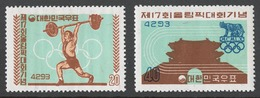 Korea South 1960 Mi# 307-08** OLYMPIC GAMES, ROME 1960 - Korea (Süd-)