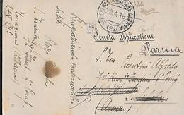 POSTA MILITARE Ia GUERRA - UFFICIO POSTA MILITARE ALBANIA (2) (p.5) 29.04.1916 SU CARTOLINA  VALONA FORMATO PICCOLO - 1900-44 Vittorio Emanuele III