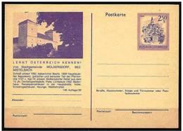 Austria/Autriche:  Intero, Stationery, Entier, Castello, Castle, Château - Castelli