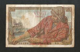 """FRANCE - BANQUE De FRANCE -  20 FRANCS """"PECHEUR"""" (C. 12 - 2 - 1942) - 1871-1952 Antichi Franchi Circolanti Nel XX Secolo"""