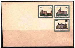 DDR: Intero, Stationery, Entier, Castle, Castello, Château - Castelli