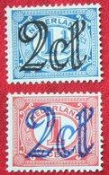 2x 2 Ct Opruimingsuitgifte Freimarken NVPH 114-115 (Mi 116-117) 1923  NO GUM Ongebruikt / MH NEDERLAND / NIEDERLANDE - Period 1891-1948 (Wilhelmina)