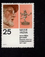 675500692 INDIA 1977  POSTFRIS MINT NEVER HINGED POSTFRISCH EINWANDFREI SCOTT 765 ANANDA KENTISH COOMARAWAMY - Inde