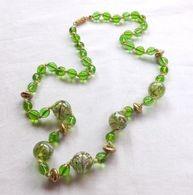 Collier Vintage En Perles De Verre De Murano Authentiques - Colliers/Chaînes