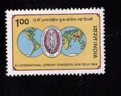 675501979 INDIA 1984  POSTFRIS MINT NEVER HINGED POSTFRISCH EINWANDFREI SCOTT 1051 12TH INTL LEPROSY CONGRESS NEW DELHI - Inde