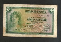 SPAGNA / SPAIN - 5 Pesetas (1935) - 5 Pesetas