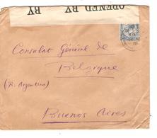 JS666/ TP GB S/L.c.New-Baf ...? 1918 Censure/censored V.Consulat Belgique à Buenos Aires Argentine C.d'arrivées - Other Zones