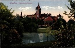 Cp Wrocław Breslau Schlesien, Blick Auf Das Restaurant Im Südpark - Schlesien