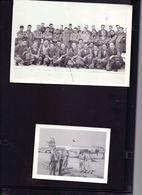 2 Photos Anciennes  Groupe De Pilotes De Chasse Et Avion De Chasse Base Aerienne De Gimli Au Canada 1956 - Aviation