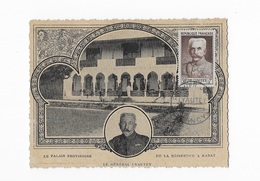 Carte Maximum 1953 Lyautey Le Palais Provisoire - Maximum Cards