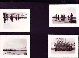 6 Photos Anciennes  Remise De Decorations A Des Pilotes De Chasse  Base Aerienne De Gimli Au Canada 1956 - Aviation