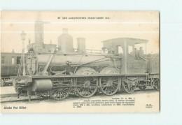 Cie De L' Est - Machine A363 Pour Trains Légers De Voyageurs - Les Locomotives  , Ed. Fleury - 2 Scans - Matériel