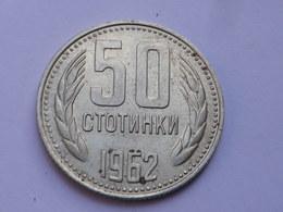 Bulgarie 50 Stotinki  1962          Km#64  Nickel   Laiton    TTB++ - Bulgarie