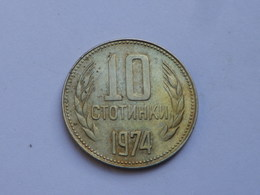 Bulgarie 10 Stotinki  1974          Km#87  Cupronickel    TTB++ - Bulgarie