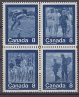 Canada 22.03.1974 Mi # 551-54 Viererblock 1976 Montreal Summer Olympics (II), MNH OG - Estate 1976: Montreal