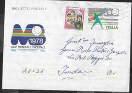 BIGLIETTO POSTALE - XXV MONDIALE BASEBALL 1978  VIAGGIATO DA ALBISSOLA MARE - Baseball