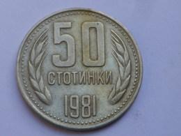 Bulgarie 50 Stotinki  1981 Commemorative         Km#116   Cupronickel    TTB++ - Bulgarie
