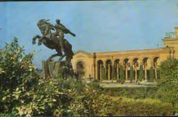 Armenia - Postcard Used 1971 Written - Erevan - Railway Station. Monument To David Of Sasun   - 2/scans - Arménie