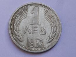 Bulgarie 1 Lev 1962        Km#58    Nickel Laiton     TTB+ - Bulgarie