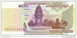 CAMBODIA 100 RIELS 2001 P-53a UNC [KH416a] - Cambodge