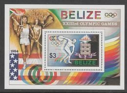 BLOC NEUF DE BELIZE - JEUX OLYMPIQUES DE LOS ANGELES : LANCEUR DU DISQUE N° Y&T 52 - Summer 1984: Los Angeles