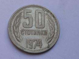 Bulgarie 50 Stotinki  1974          Km#89  Nickel   Laiton    TTB++ - Bulgarie