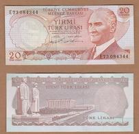 AC  - TURKEY  - 6th EMISSION  20 TL E 73 UNCIRCULATED - Turquie