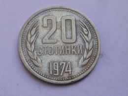 Bulgarie 20 Stotinki  1974          Km#89  Nickel   Laiton    TB - Bulgarie