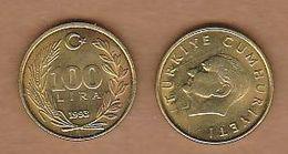 AC- TURKEY  100 LIRA - TL 1993 BRASS COIN UNCIRCULATED - Turquie