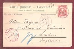 PILATUS KULM HOTEL POSTMARK 1898 Pilatuabahn Chemin De Fer Du Pilate Postage Due Mark - LU Lucerne