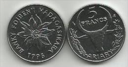 Madagascar 5 Francs 1996. UNC - Madagascar