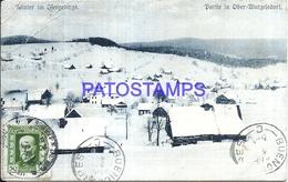 104214 CZECH REPUBLIC HELP VIEW PARTIAL SNOW BREAK CIRCULATED TO ARGENTINA POSTAL POSTCARD - Czech Republic
