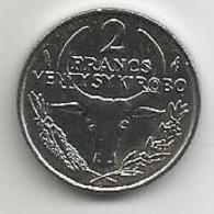 Madagascar 2 Francs 1987. UNC KM#9 - Madagascar