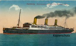"""AK Hamburg, Riesendampfer, """"Vaterland"""" - Altri"""