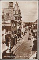High Street, North End, Barnstaple, Devon, 1938 - Valentine's RP Postcard - England