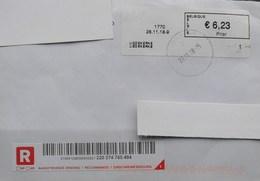België 2018 Liedekerke 1770 - Logo Bpost - Prior Klein - Cijfer 1 - Postage Labels