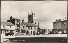 Market Square, St Just, Cornwall, 1962 - Valentine's RP Postcard - Gus Honeybun - England