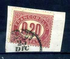 1875 REGNO SERVIZIO N.3 USATO - 1861-78 Vittorio Emanuele II