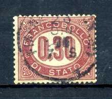 1875 REGNO SERVIZIO N.4 USATO - 1861-78 Vittorio Emanuele II