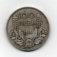 Bulgaria - 1934 - 100 Leva - Argento - Vedi Foto - (MW1923) - Bulgaria