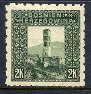 BOSNIA & HERZEGOVINA 1906 2 Kr. Perforated 6½:6½:9¼:6½  LHM / *. Michel 43G, SG 200G - Bosnia And Herzegovina