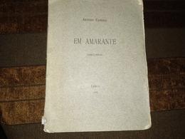 "Livro Português, Book Portuguese -""EM AMARANTE (Discursos) - Livres, BD, Revues"