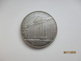 1932 ESTONIA 2 KROONI SILVER , TARTU UNIVERSITY 1632-1932       , M - Estonia