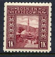 BOSNIA & HERZEGOVINA 1906 1 Kr. Perforated 9¼:6½:9¼:6½  LHM / *. Michel 42G, SG 199G - Bosnia And Herzegovina