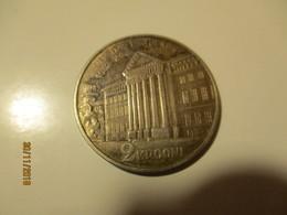 1932 ESTONIA 2 KROONI SILVER , TARTU UNIVERSITY 1632-1932       ,M - Estonie