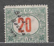 Hungary Banat Bacska 1919 Porto Mi#5 Mint Hinged - Banat-Bacska